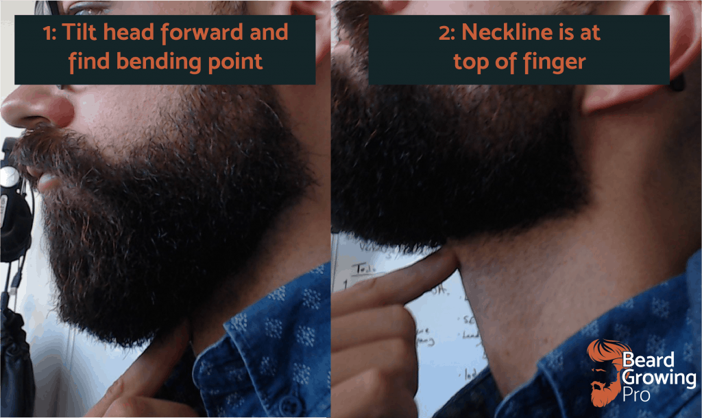 How to trim a beard - neckline