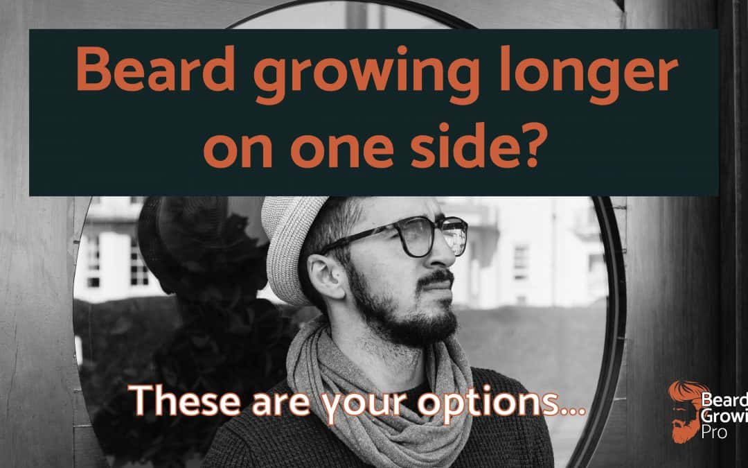 beard growing longer on one side - header