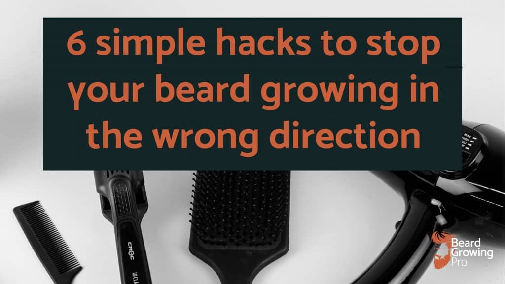 beard growing in wrong direction