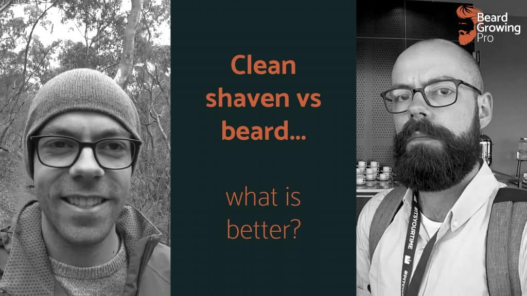clean shaven vs beard header image