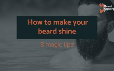 How to make your beard shine! 8 magic tips for beards