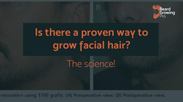 Is there a proven way to grow facial hair