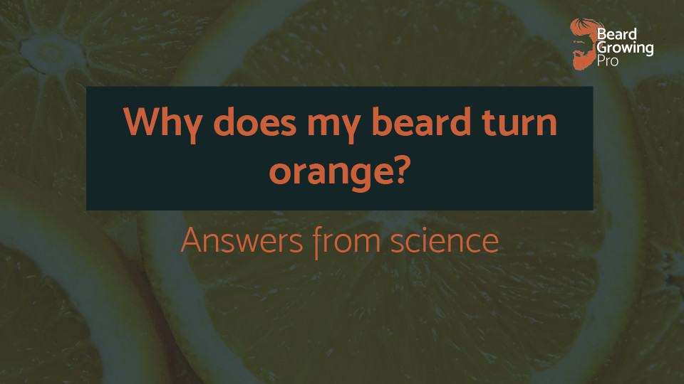 Why does my beard turn orange