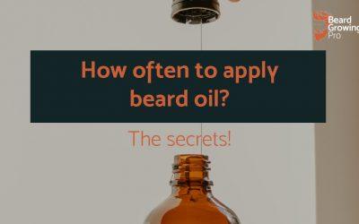 How often to apply beard oil [the secrets]