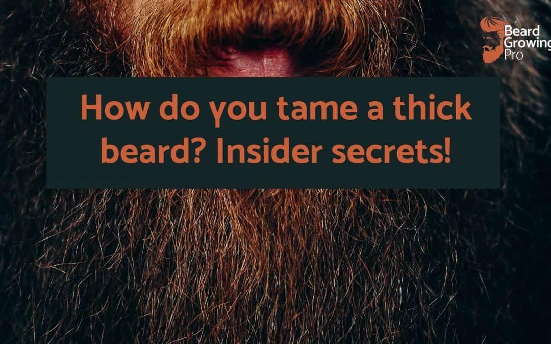 How do you tame a thick beard? Insider secrets!