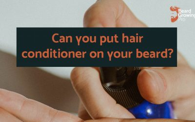 Can you put hair conditioner on your beard?