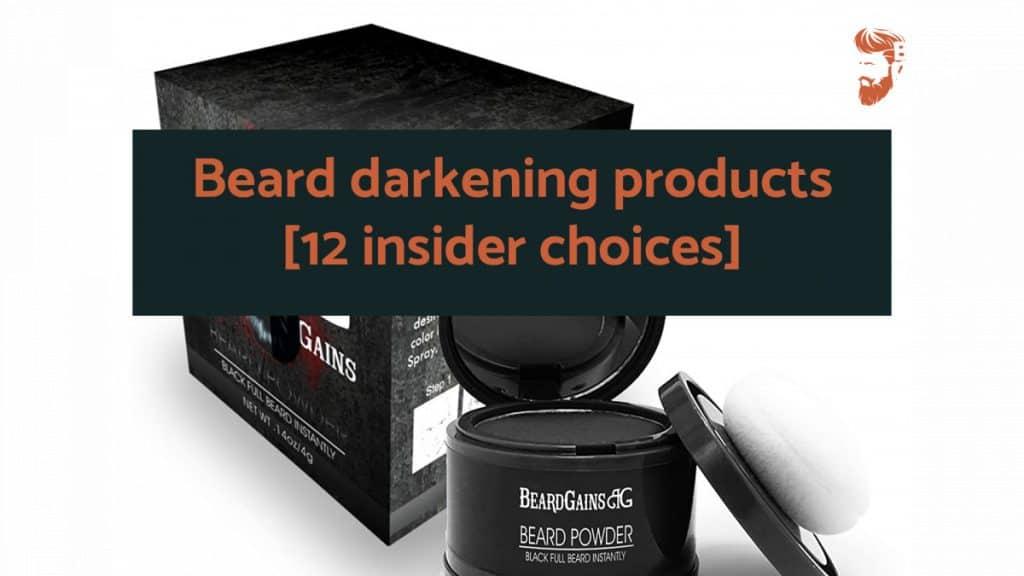 Beard darkening products
