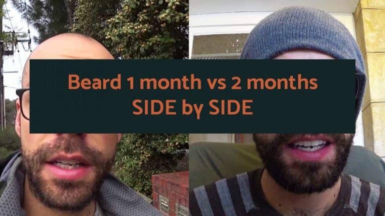 Beard 1 month vs 2 months