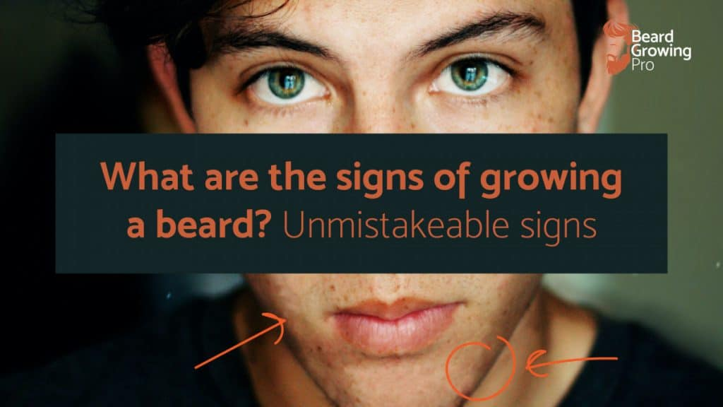What are the signs of growing a beard? The unmistakable signs